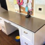 Custom metal desk